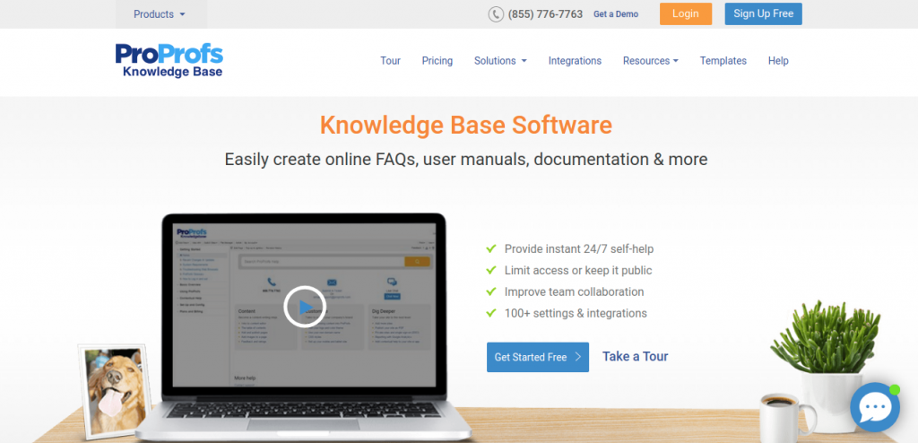 Proprofs : Software documentation tool