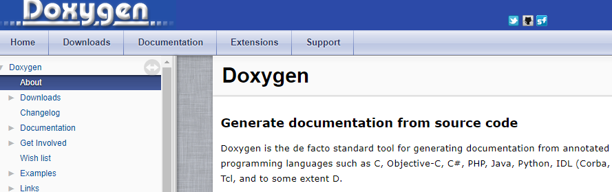 Doxygen: Software documentation tool