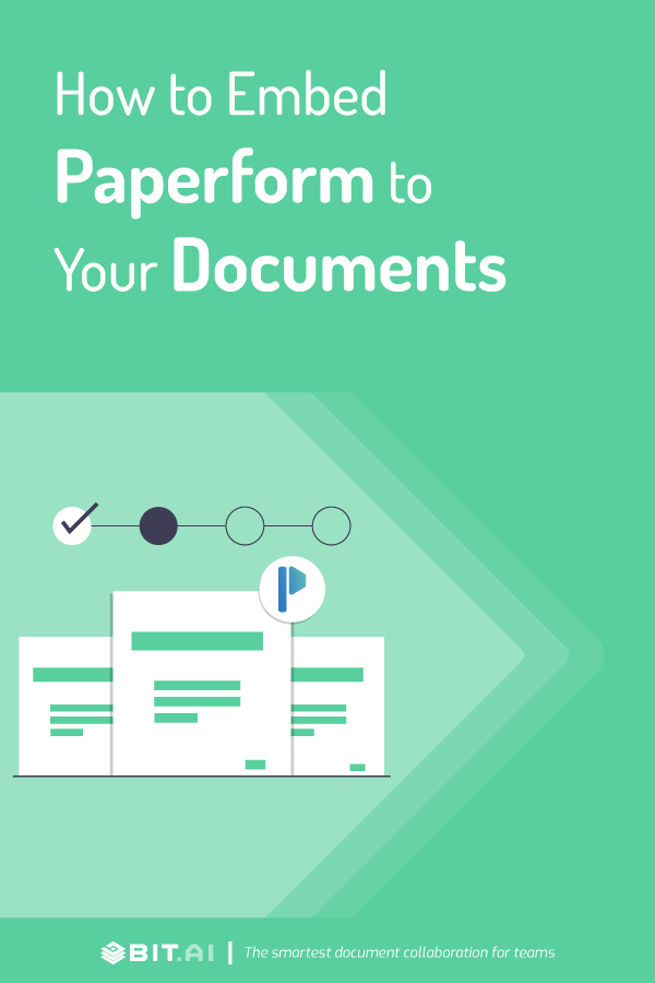 How to embed paperform to your documents - Pinterest