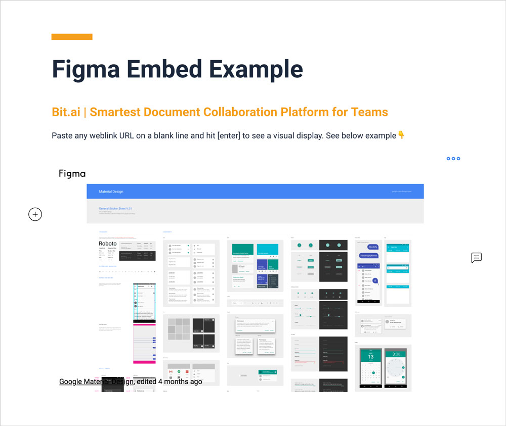 Preview of embedded figma file into bit document