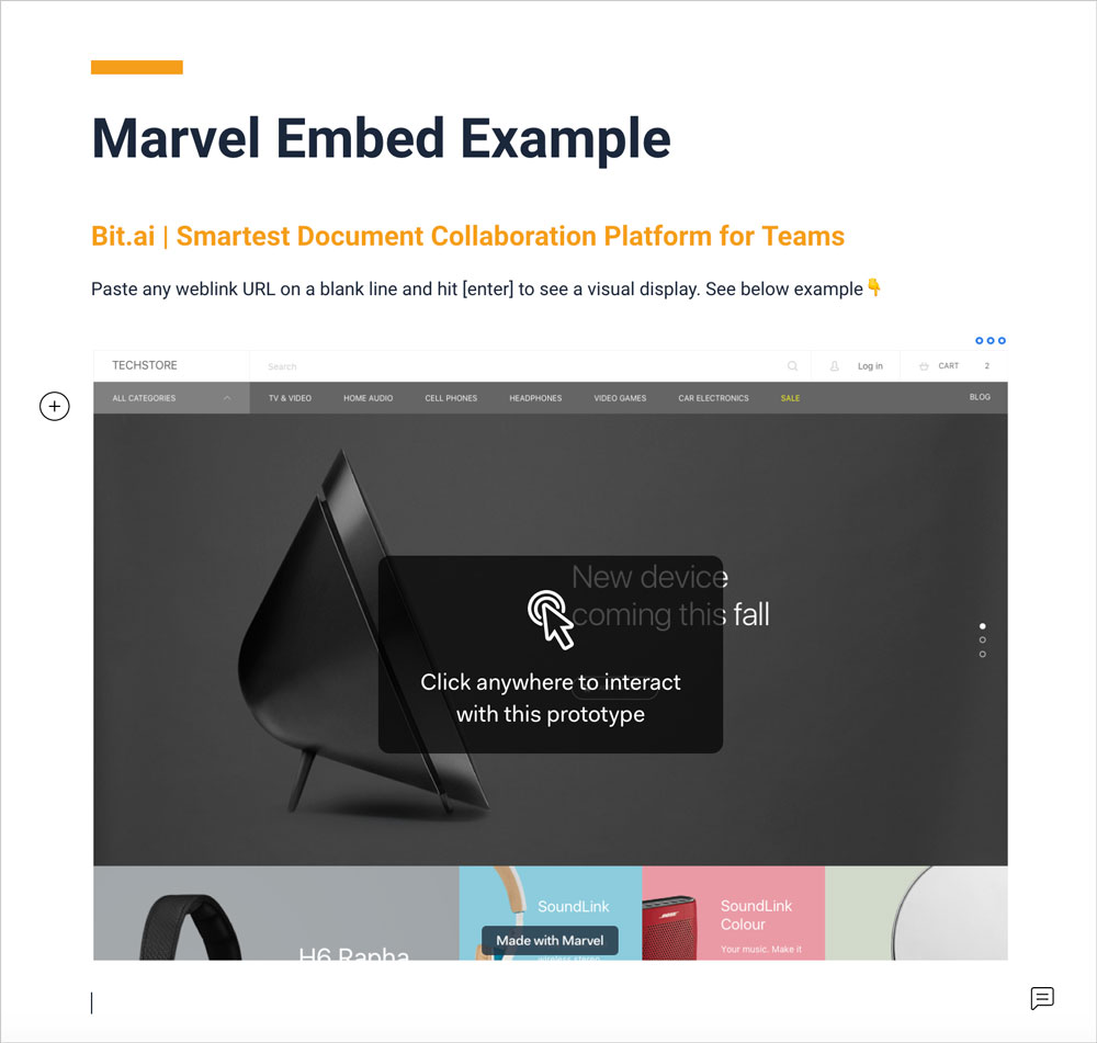 Preview of embedded marvel file