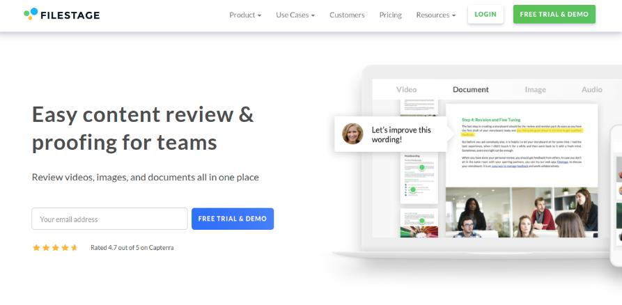 Filestage: Tool for design collaboration