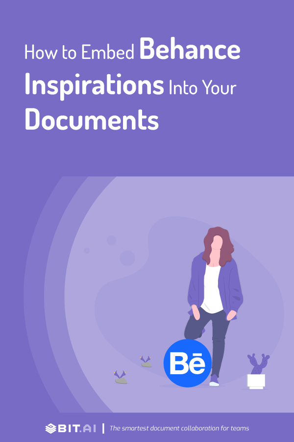 How to embed Behance inspiration to your documents - Pinterest