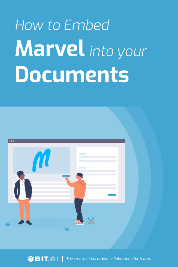 How to embed marvel into your documents - Pinterest image