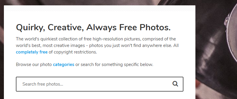 Gratisography: Free Stock Photos Website