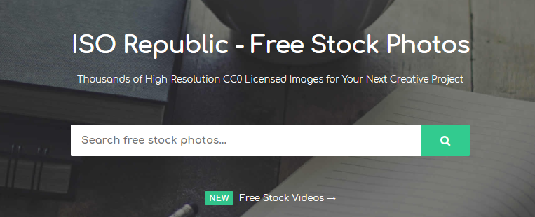 ISO Republic: Free Stock Photos Website