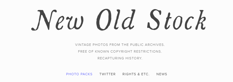 New Old Stock: Free Stock Photos Website