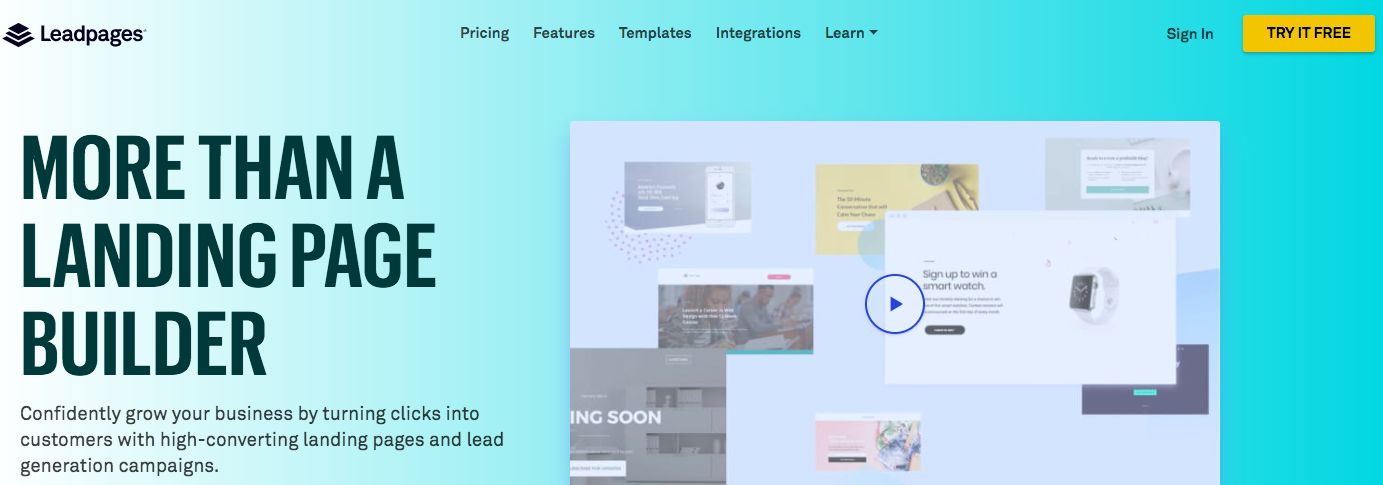 Leadpages tool for digital marketing
