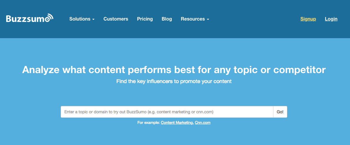 Buzzsumo - Social Media Management Tool