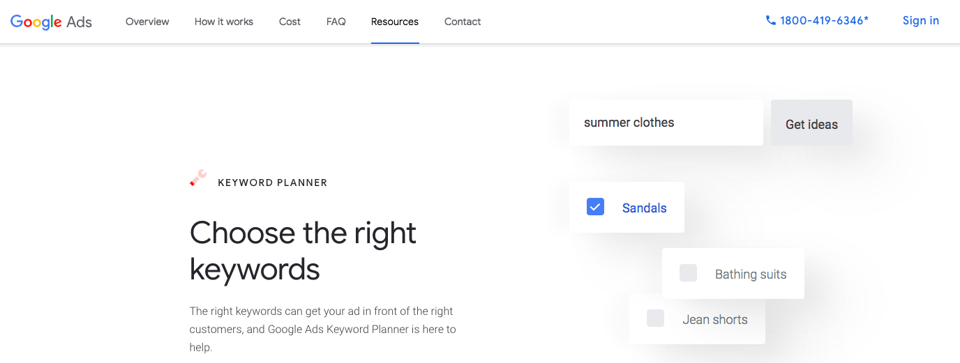 Google Keyword Planner : Digital Marketing Tools