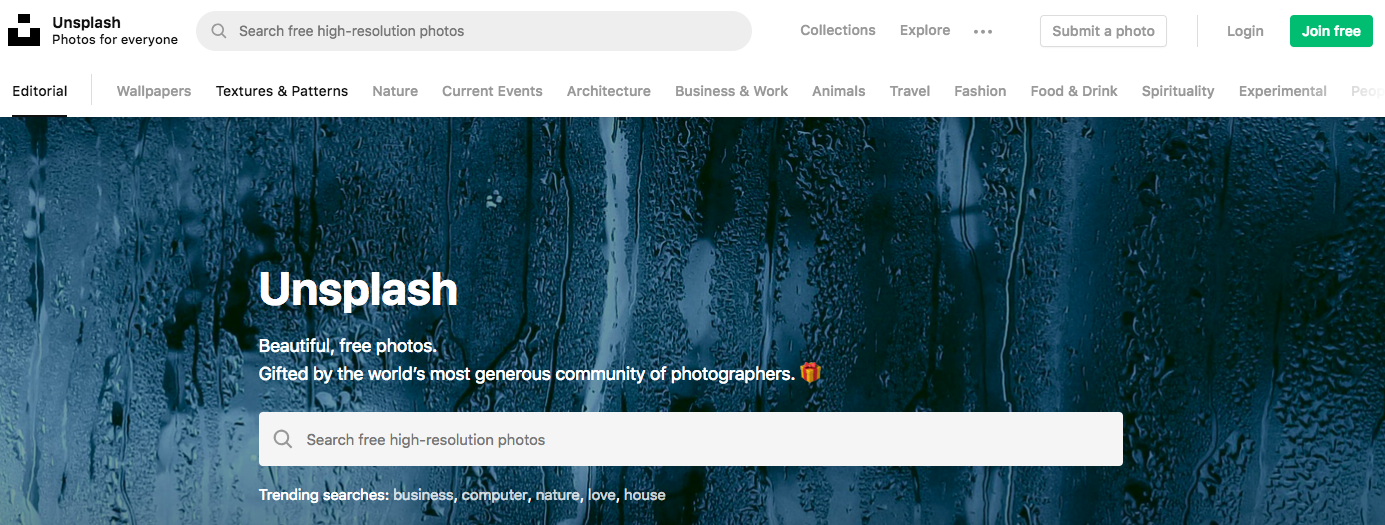 Unsplash : Digital Marketing Tool