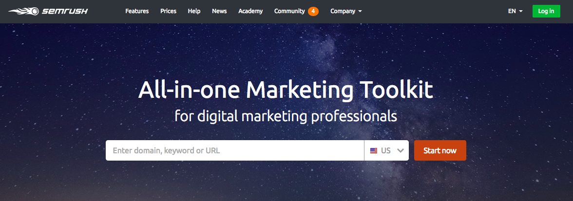 Semrush tool for digital marketing
