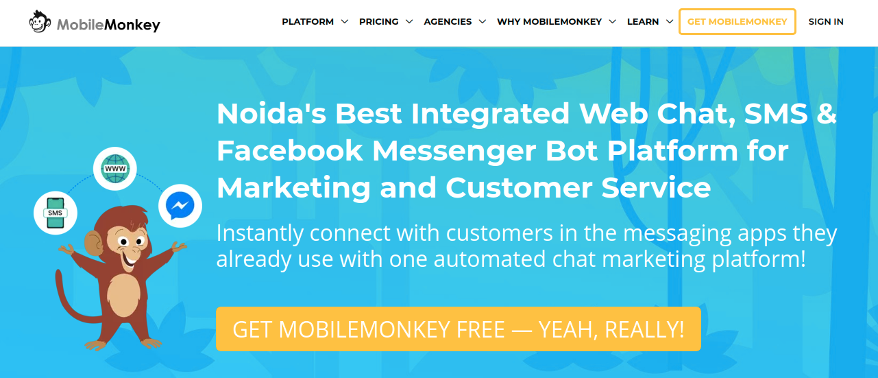 MobileMonkey : Digital marketing tool