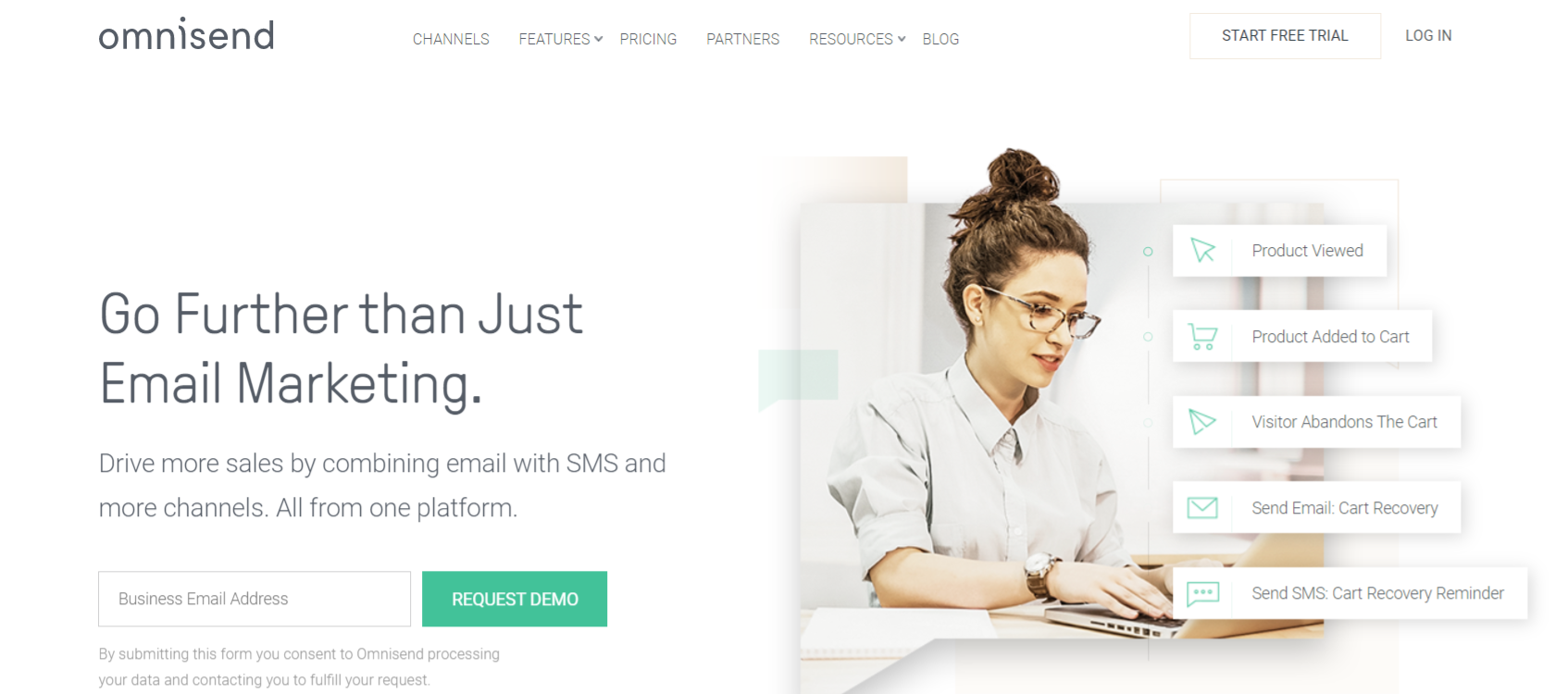 Omnisend: Sales and marketing tool