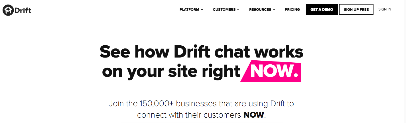 Drift - Intercom Alternative