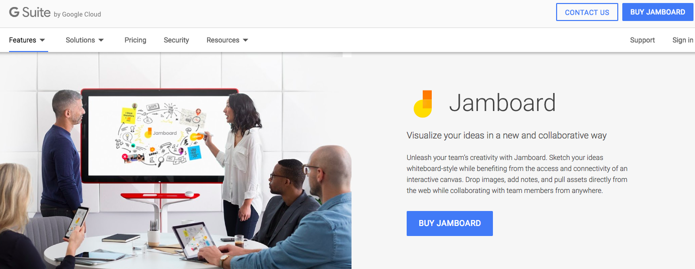 Jamboard : Digital whiteboard software