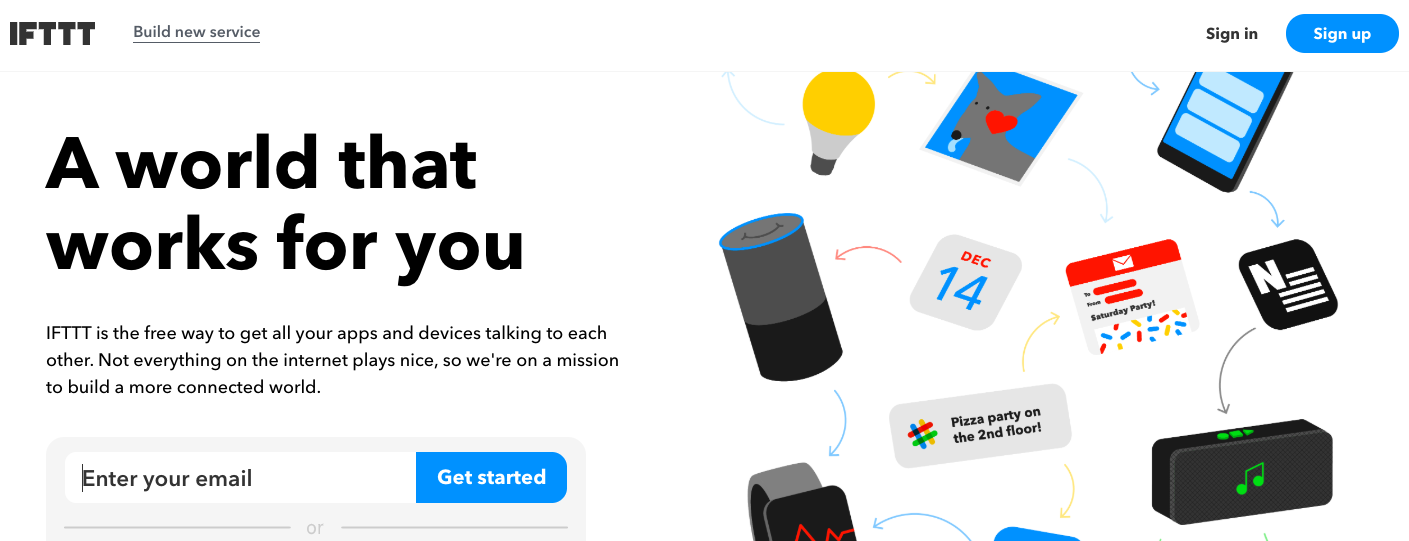 IFTTT - Social Media Management Tool
