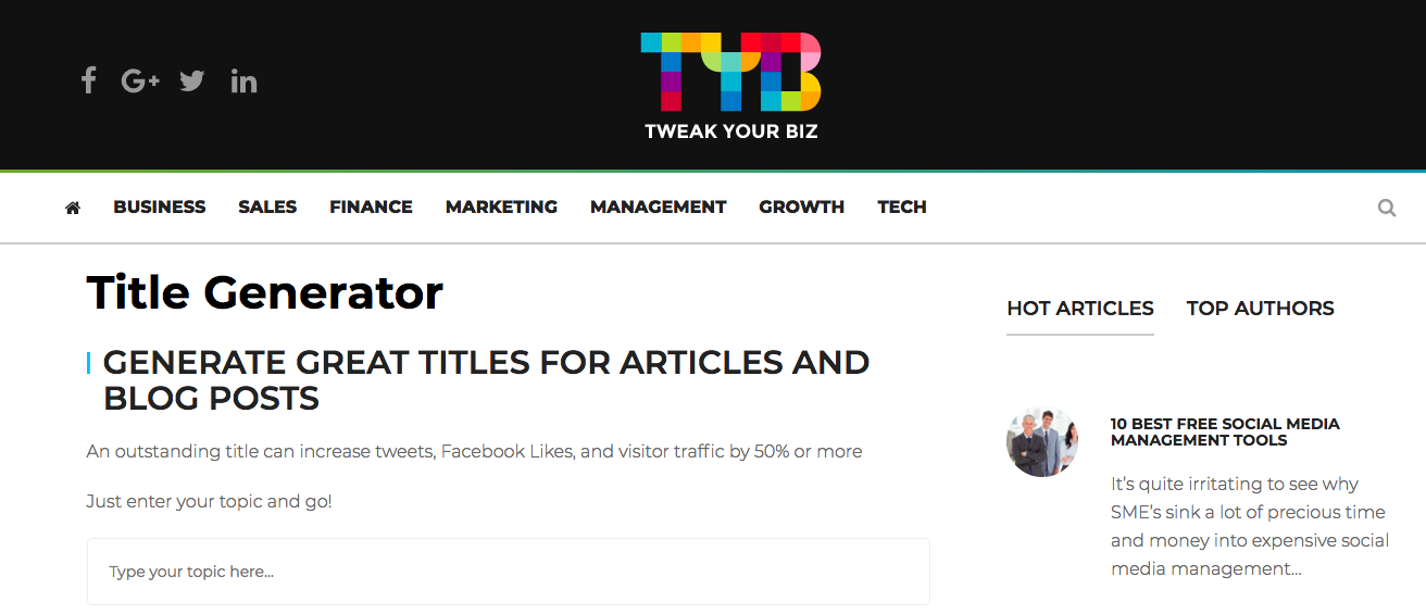 Tweakyourbiz.com - Social Media Management Tool