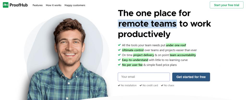 Proofhub: Saas tool for remote work
