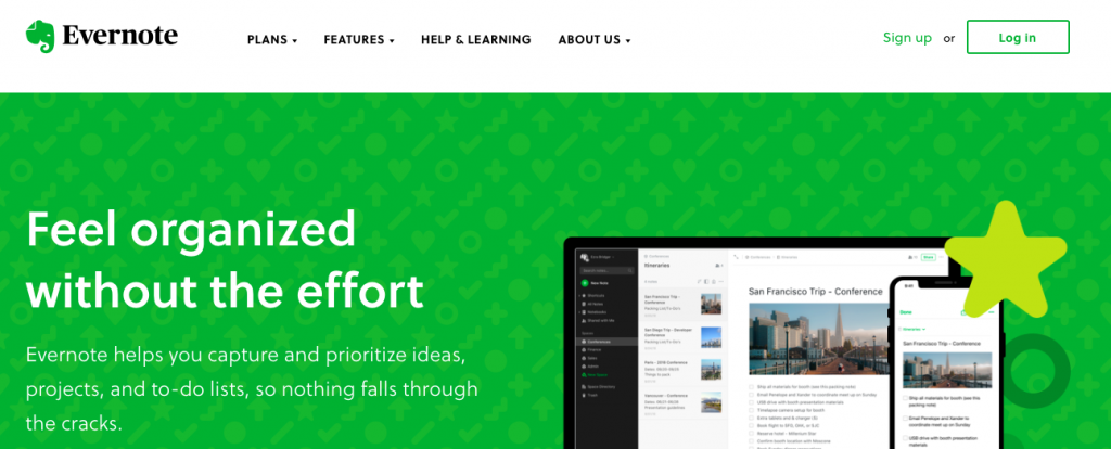 Evernote: Organizational tool