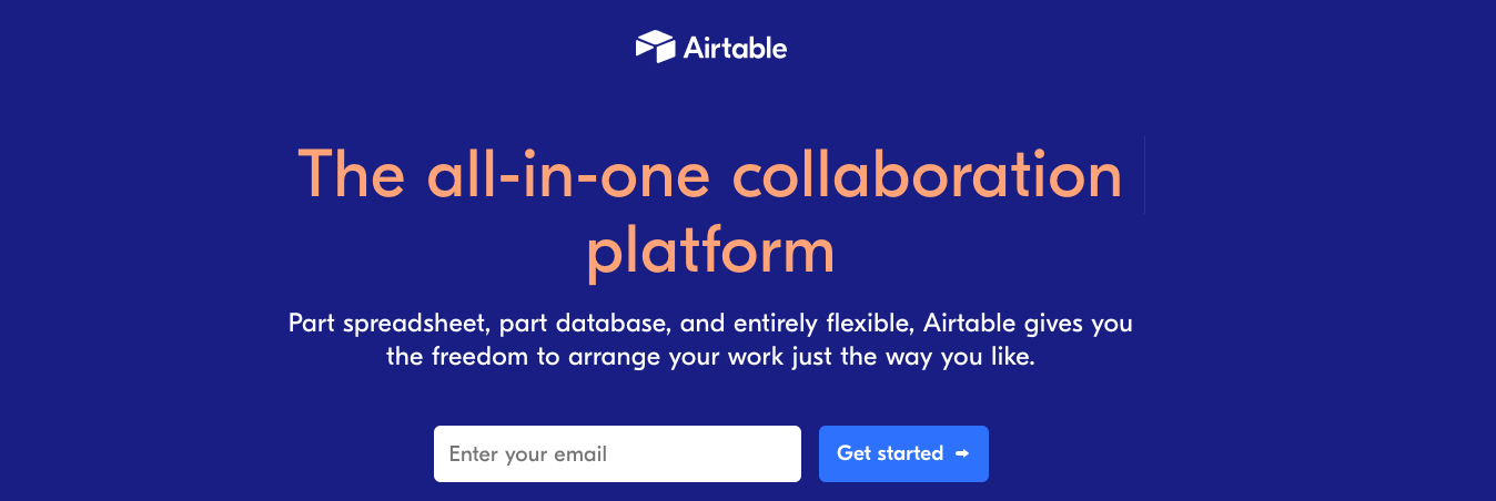 Airtable : Organizational tool