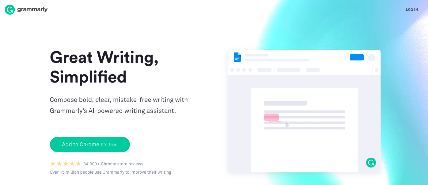 Grammarly : Content creation software