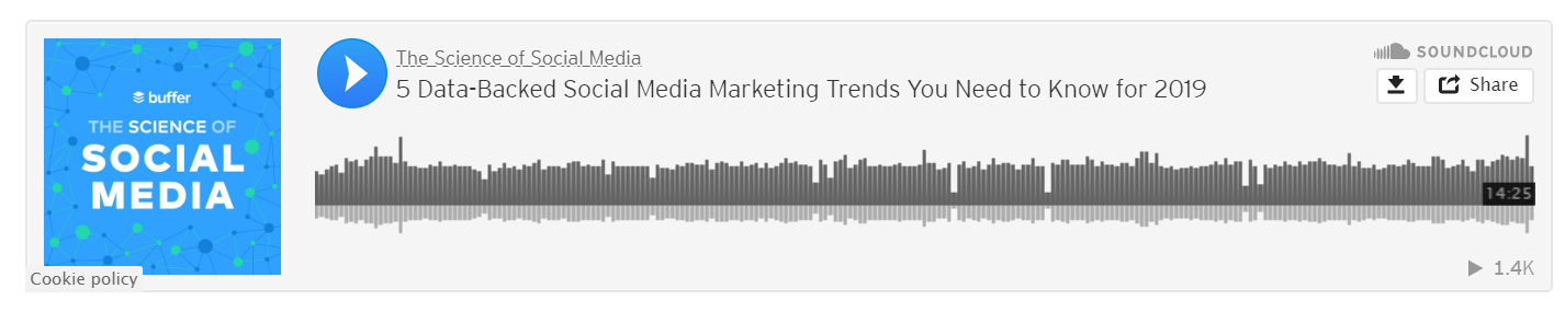 The Science of social media podcast for marketing