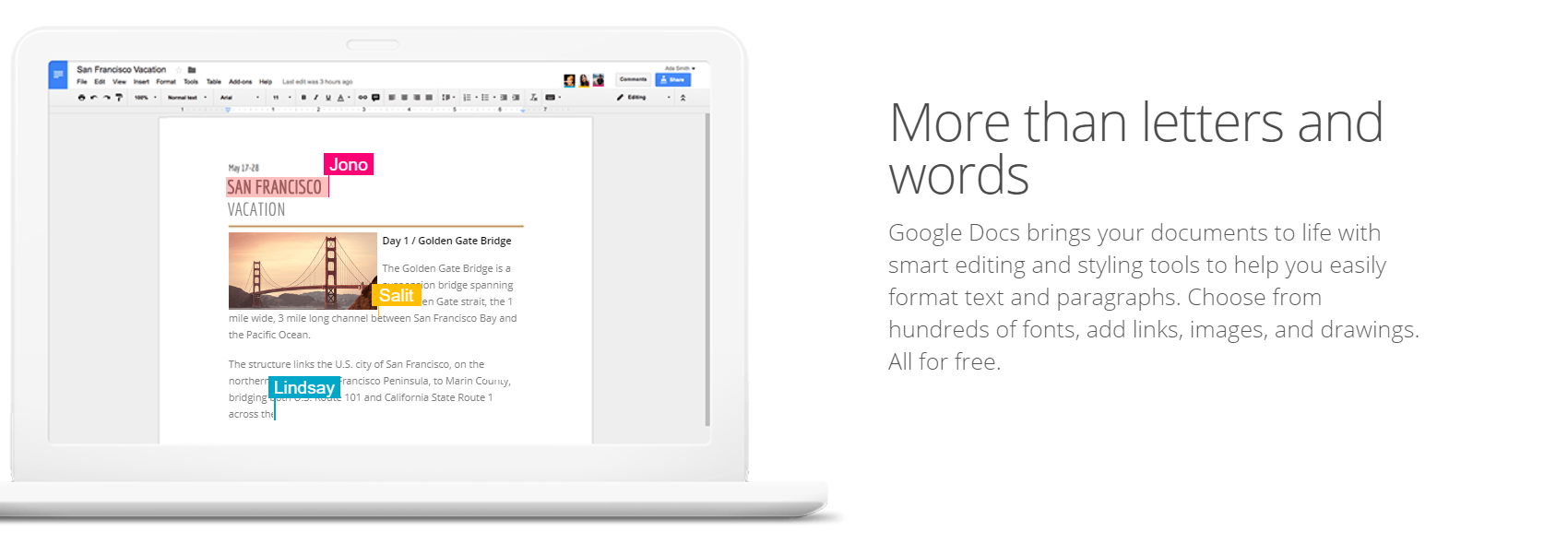 Google Docs : Writing Tool