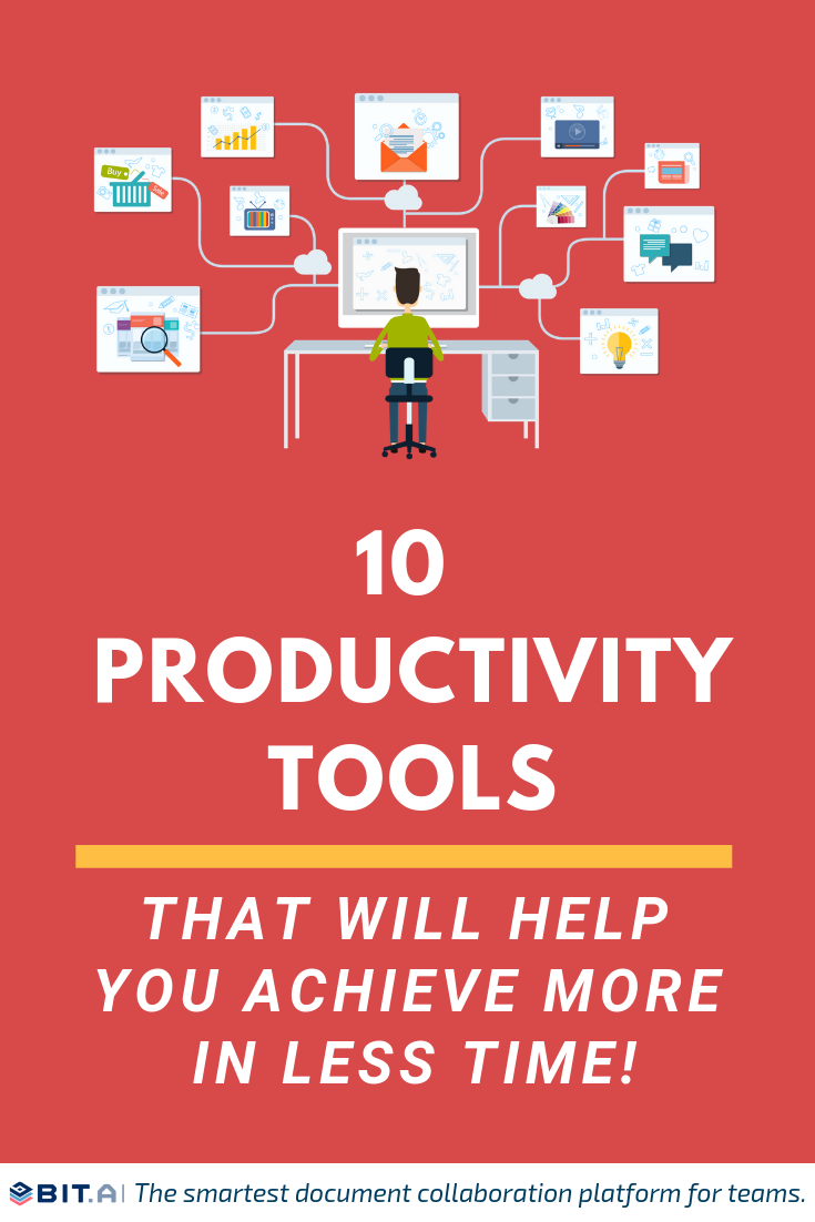 Productivity tools that will help you achieve more in less time - Pinterest