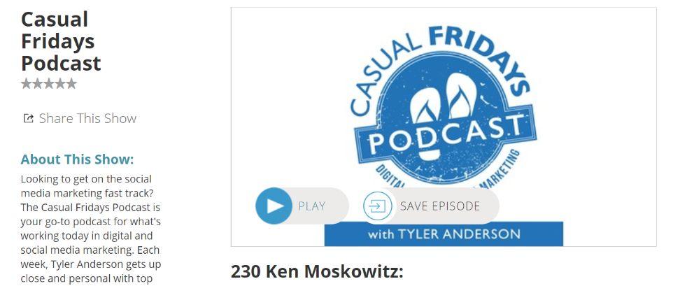 Casual Fridays: Social media marketing podcast