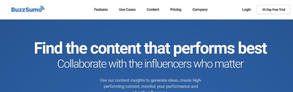 Buzzsumo: Social media management tool