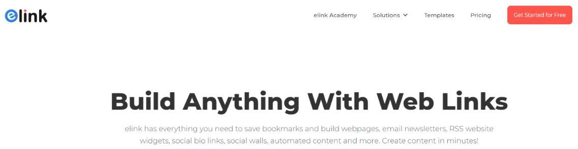 Elink.io: Social media management tool