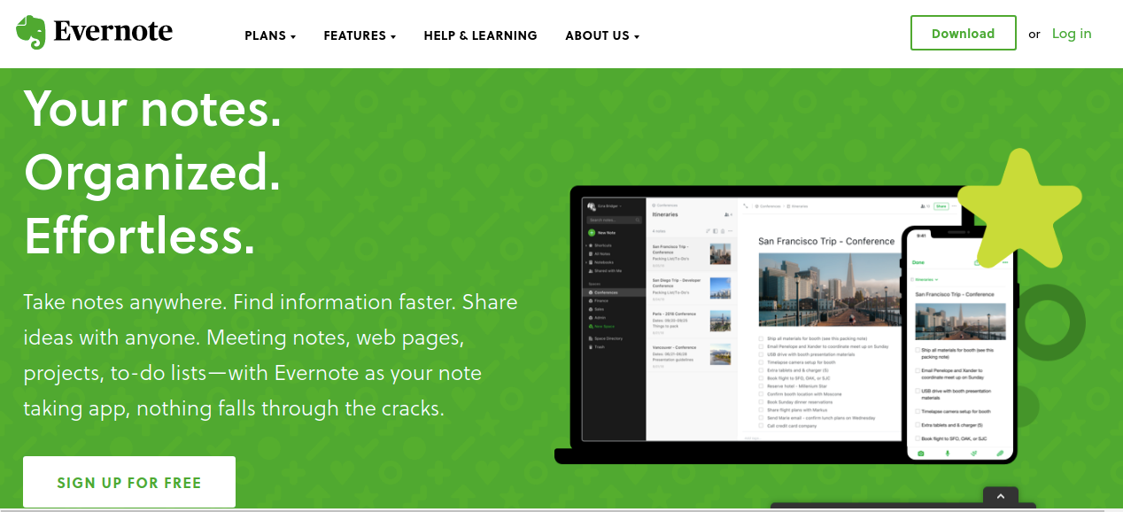 Evernote: Organizational tool