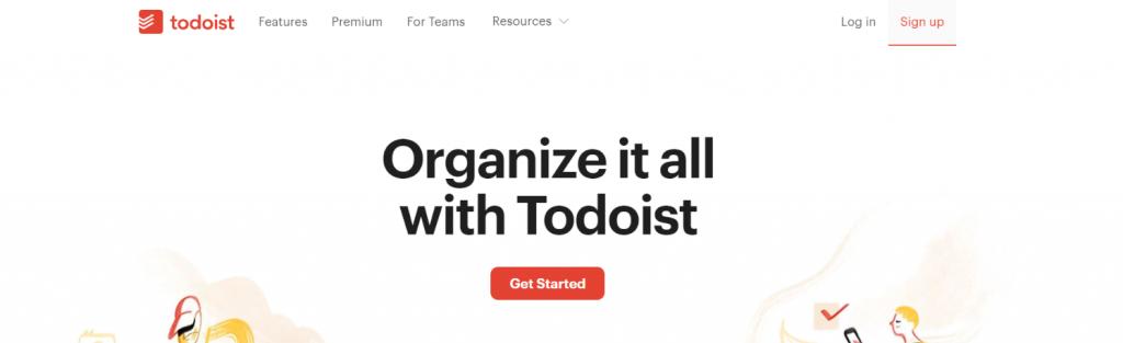 Todoist: Writing app