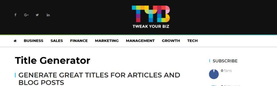 TYB: Social media management tool