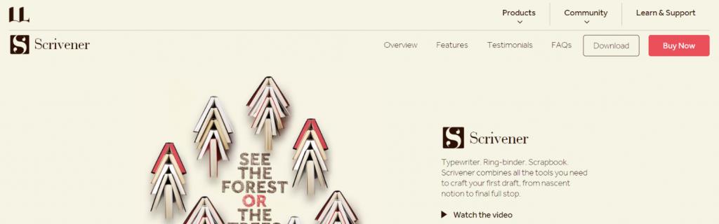 Scrivener: Writing app