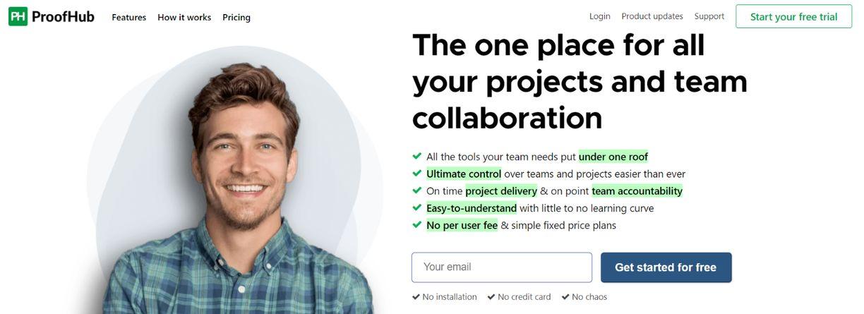 Proofhub: Organizational tool