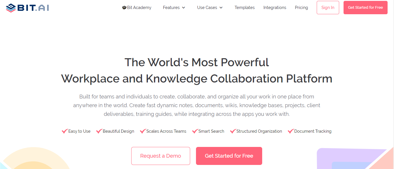 Bit.ai: Document collaboration platform