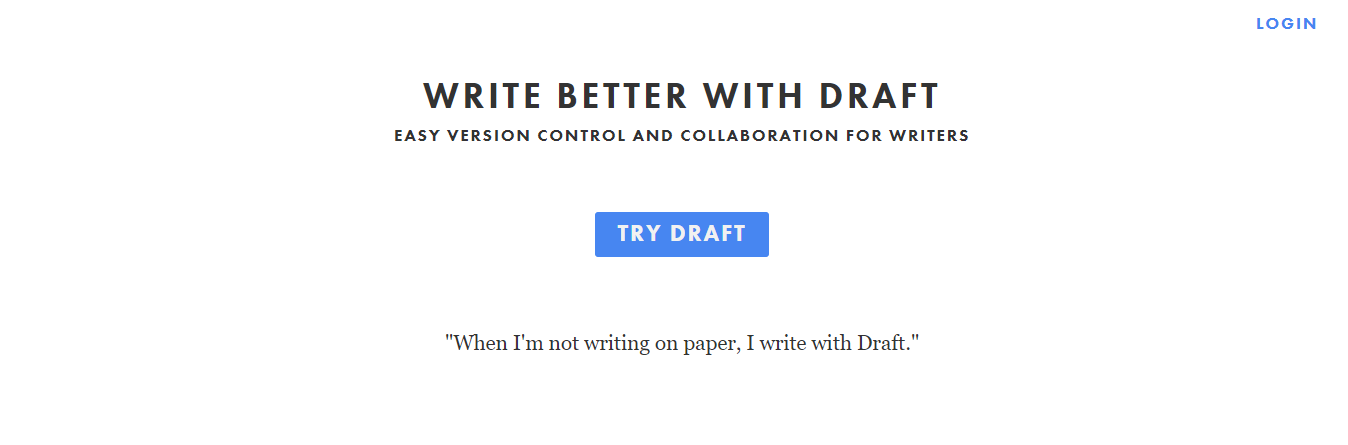 Draft: Best app for writing a book