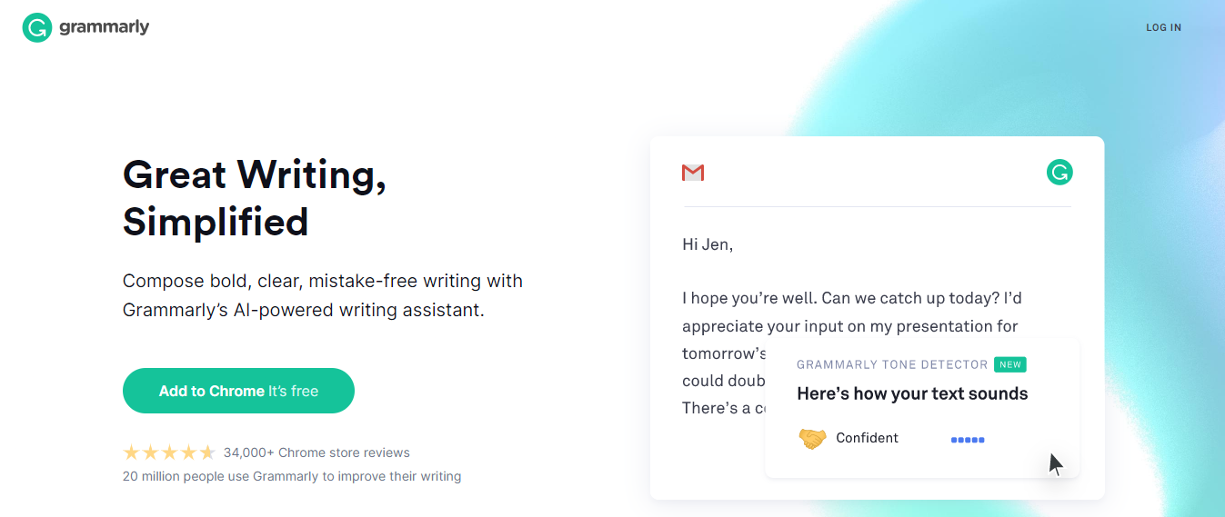 Grammarly: Best app for writing a book