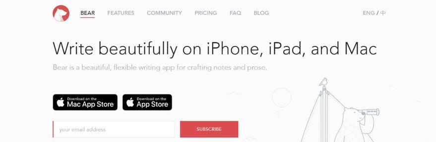 Bear: Note taking app