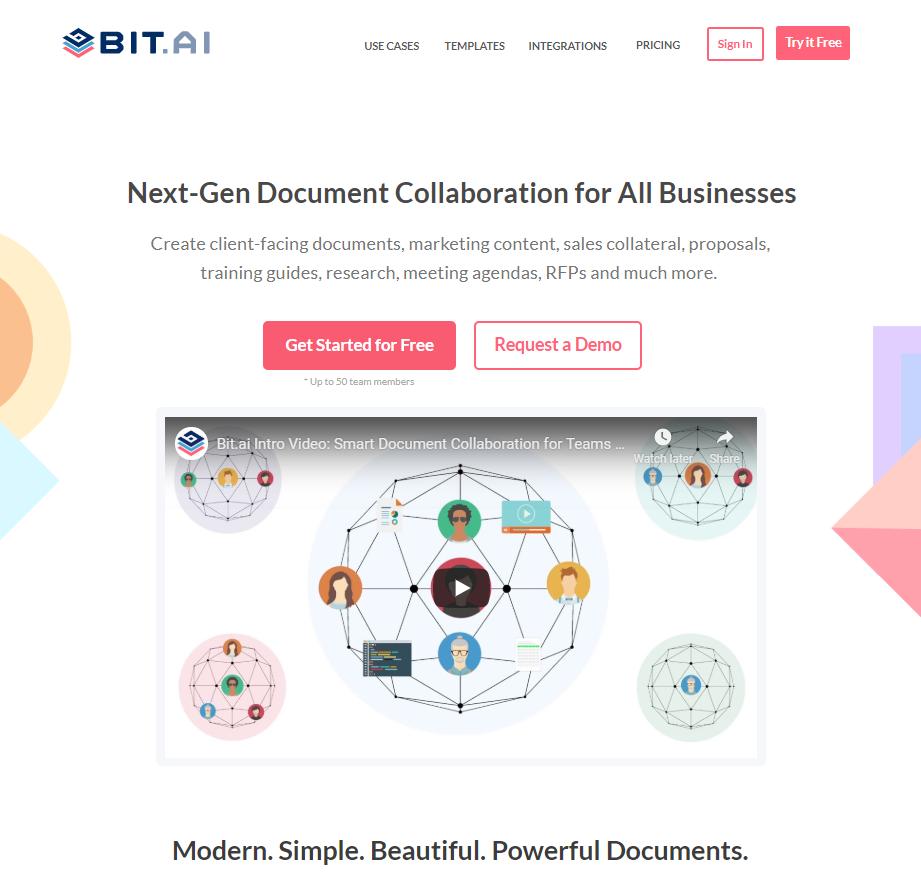 Bit.ai home page
