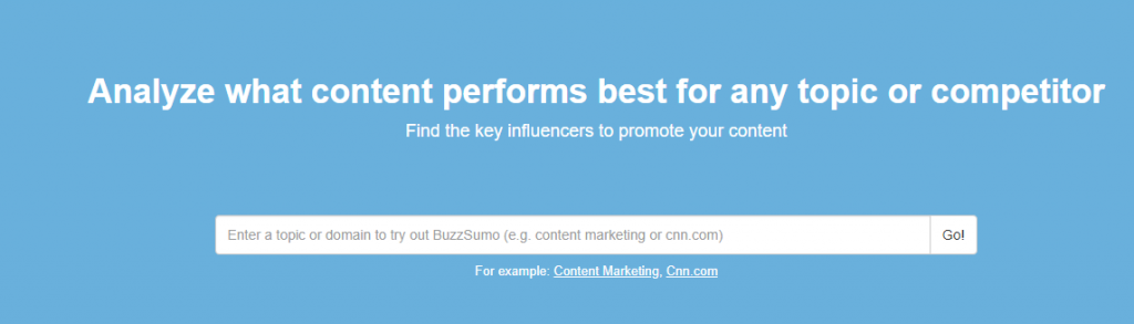 Buzzsumo: Growth hacking and content creation tool