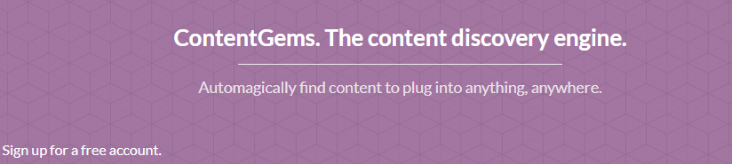 Content Gems : Content Curation tool