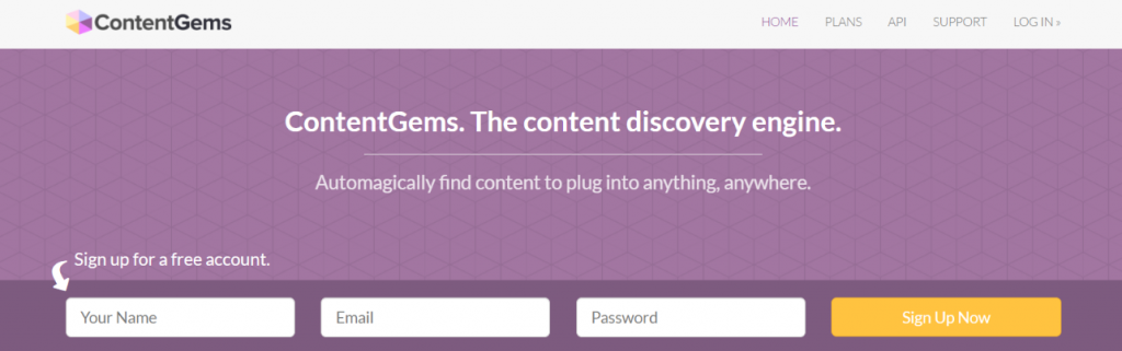 Content gems: content curation tool
