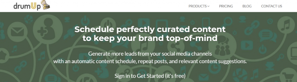 Drum up: content curation tool