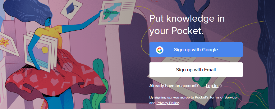 GetPocket : Content Curation tool