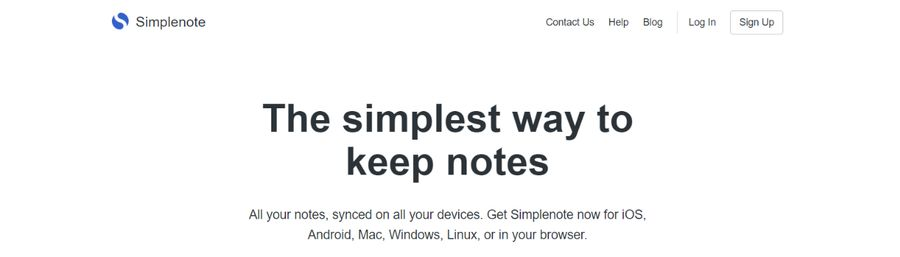 Simplenote: Note taking app