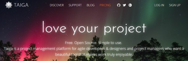 Taiga: Online collaboration tool