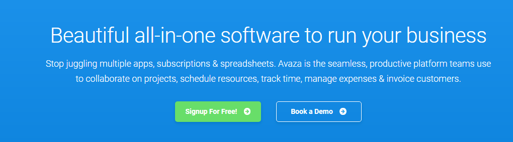 Avaza tool for managing projects of your company